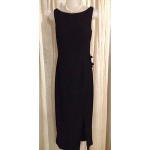 Vintage Ann Taylor Black Evening Midi Dress